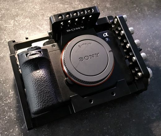 Sony Alpha a7S II w/cage and batteries