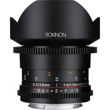 Rokinon 14mm T3.1 Cine Super Wide Angle Lens for Canon EF Mo