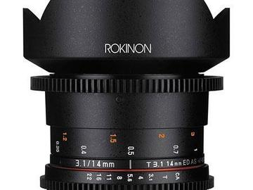 Rent: Rokinon 14mm T3.1 Cine Super Wide Angle Lens for Canon EF Mo