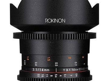 Rokinon 14mm T3.1 Cine Super Wide Angle Lens for Canon EF Mo