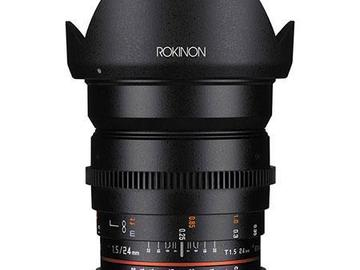 Rent: Rokinon 24mm T1.5 Cine Wide Angle Lens for Canon EF Mount