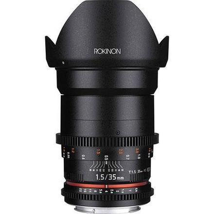 Rokinon 35mm T1.5 Cine VDSLR Wide-Angle Lens for Canon EF Mo