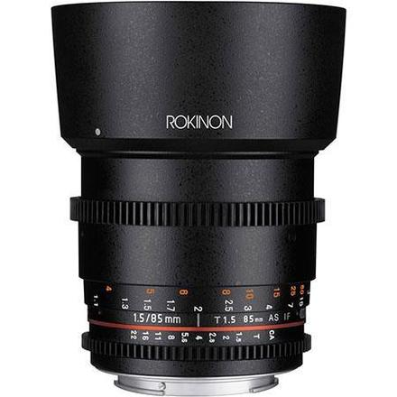 Rokinon 85mm T1.5 Cine Aspherical Lens for Canon EF Mount
