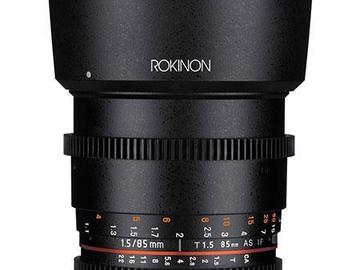 Rent: Rokinon 85mm T1.5 Cine Aspherical Lens for Canon EF Mount