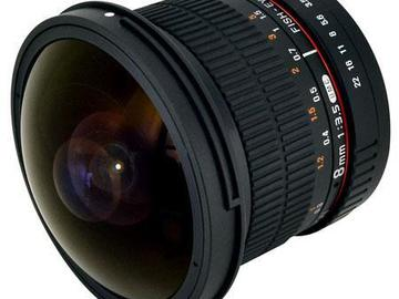 Rent: Rokinon 8mm f/3.5 HD Fisheye, Manual Focus Lens with Removab
