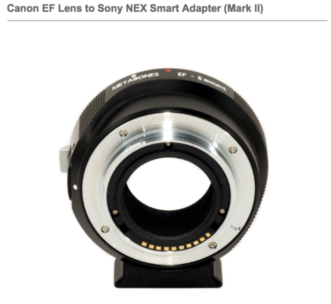 Canon EF Lens to Sony NEX Smart Adapter    Mark II