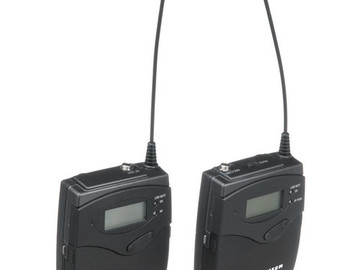 Rent: 1 Sennheiser Wireless Transmitter and Receiver Set
