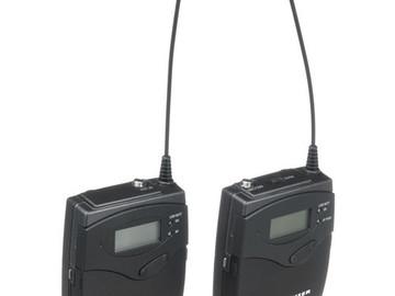 Rent: 1 Sennheiser Wireless Transmitter and Receiver Set
