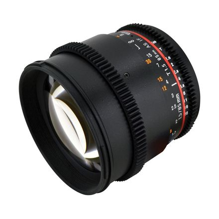Rokinon 85mm t/1.5 Aspherical Cine Lens for Canon with De-Cl