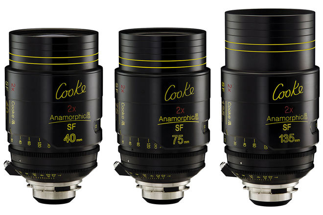 Cooke i Anamorphic SF 3 Lens Kit (40, 75, 135mm)