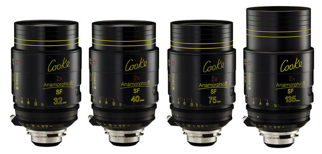 Cooke i Anamorphic SF 4 Lens Kit (32, 40, 75, 135mm)