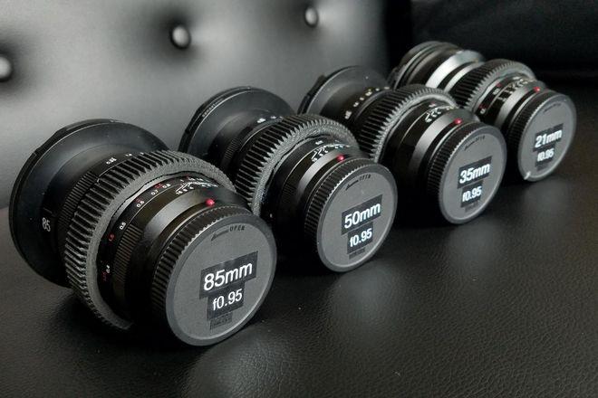 Nokton f0.95 CinePrimes: 10.5, 17.5 , 25, 42.5mm Voigtlander