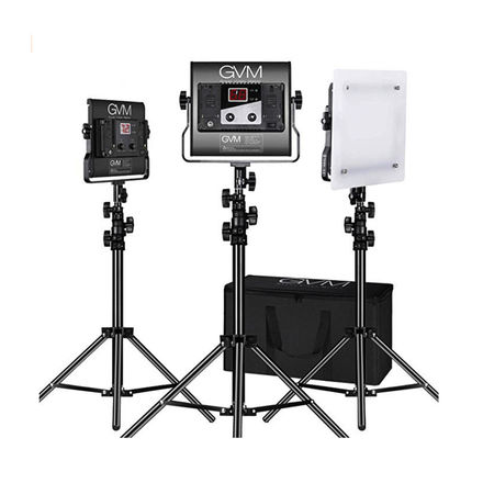 3X CRI97+ LED B-COLOR LIGHT PANEL KIT + DIFF/BATT/STANDS