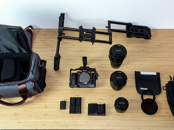 Sony a7S II Package w Lenses, Smallrig Cage, & Shoulder Rig