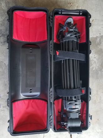 Manfrotto 546GB Fluid Head Tripod w/ Case