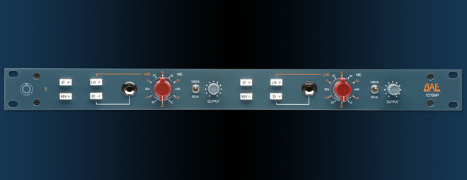BAE 1073MP Dual-Channel Mic Preamp