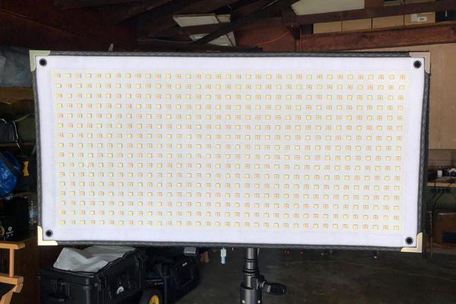 (4) Westcott Flex Bi-Color LED Cine Set 1 x 2  w/ soft boxes