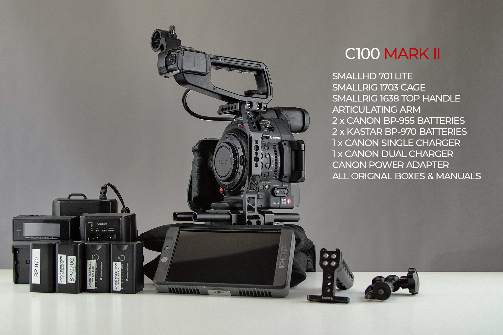 Rent a Canon EOS C100 Mark II + SmallHD + Rig | ShareGrid Los Angeles