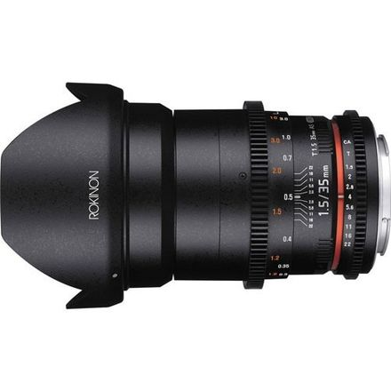 Rokinon Wide-Angle Lens for Sony E-Mount - 35mm - T/1.5