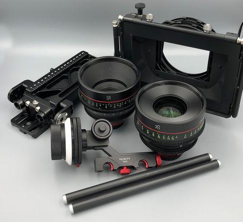 Canon CN-E 35 & 50mm Cinema Lens Set + Follow Focus + More!