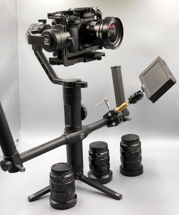 Gh5s + Voigtlander Lenses Gimbal Package w/Zhyiun Crane 2
