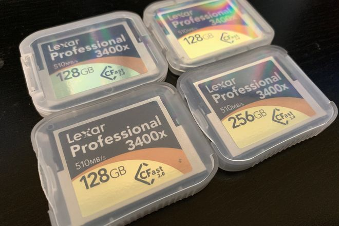 (5) Lexar CFast 2.0 Cards