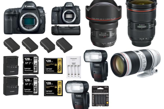 Canon 5D Mark IV 6D II 11-24mm 24-70mm ii 70-200 iii flash