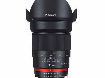Rokinon Cinema Lens 35mm 1.4 F Mount