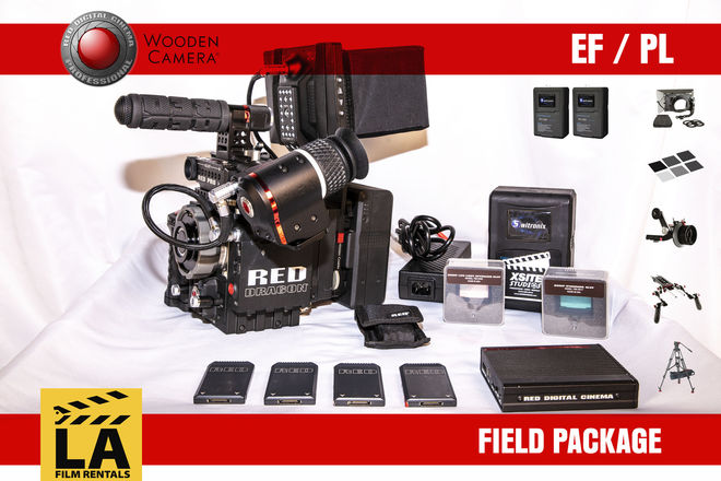RED Epic Dragon 6k - DP Kit w/ Camera Support + 4 Cards/Batt
