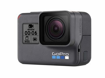 GoPro HERO6 Black (3 batteries, dual charger, many mounts)