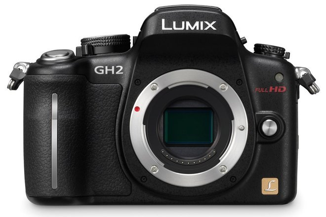 Panasonic GH2 (42mbps hack), 3 batteries, charger, 32GB card