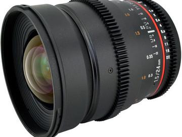 Rent: Rokinon Cine 24mm T1.4 Canon EF mount