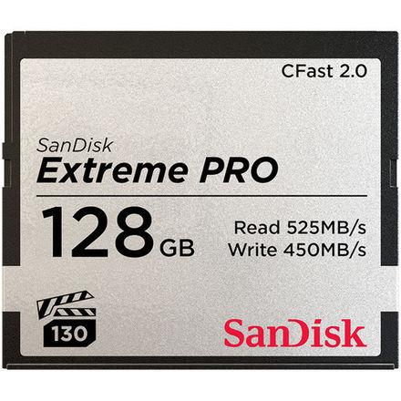 SanDisk 128GB Extreme Prop CFast 2.0 Memory Card (Two)