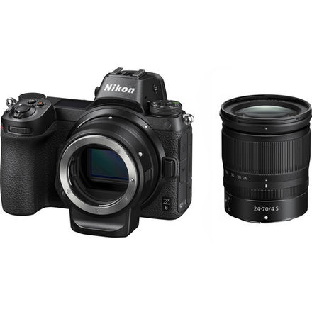 Nikon Z6 camera with 24-70mm lens and FTZ lens mount adapter