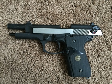 Rent: REALISTIC AIR SOFT M9 PISTOL WITH MOVING PARTS.