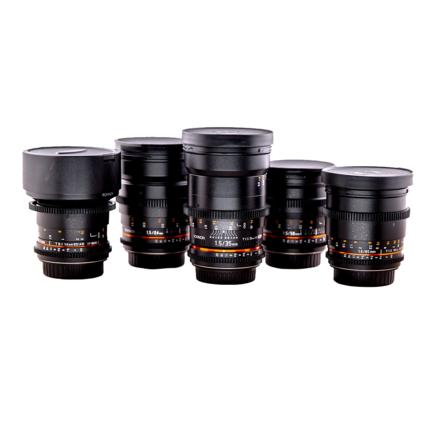 Rokinon Cine 5 Lens Set EF (14, 24, 35, 50, 85)