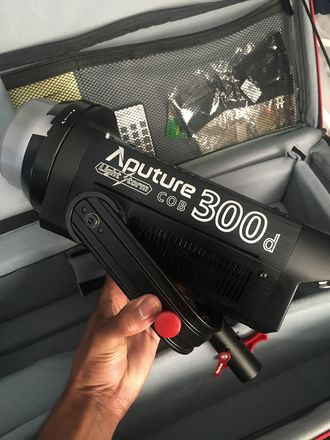 Aputure LS C300d kit with C Stand and Lightdome mini