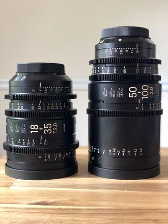 Sigma Cine 18-35mm T2 + Sigma Cine 50-100mm T2 Canon Mount