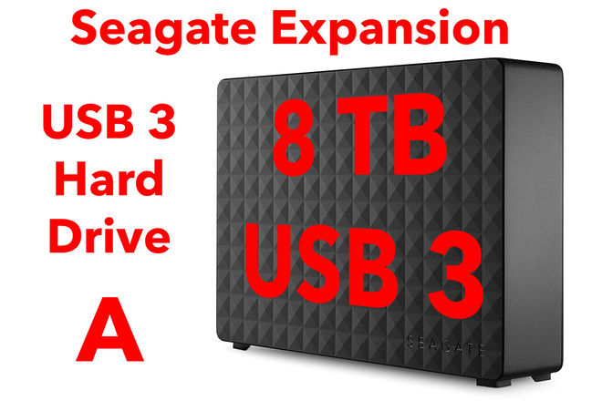 Seagate Expansion 8TB USB 3.0 Hard Drive A