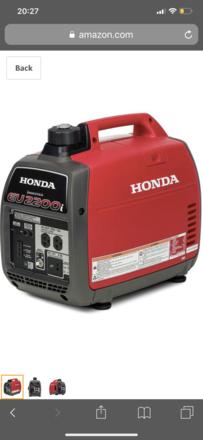 Honda EU2000i Generator (1 of 2) available