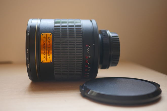 Rokinon Mirror Lens 500mm f/6.3 With Canon EF Adapter