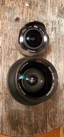 9.5mm Zeiss and Rokinon 7.5mm