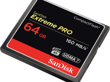 SanDisk 64GB Extreme Pro CompactFlash Memory Card