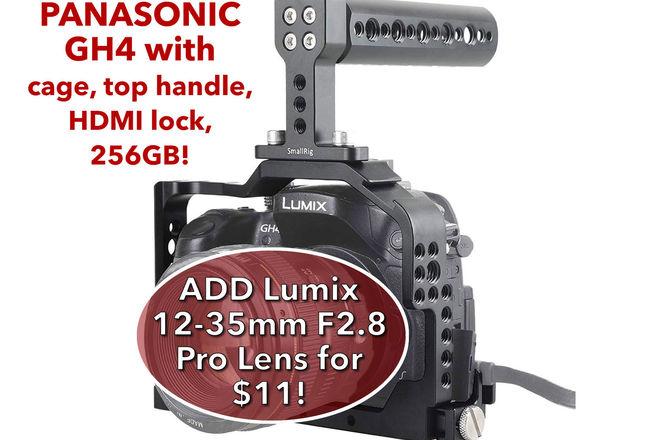 Panasonic Lumix DMC-GH4 w/ 256GB SDXC, 2 Batteries H