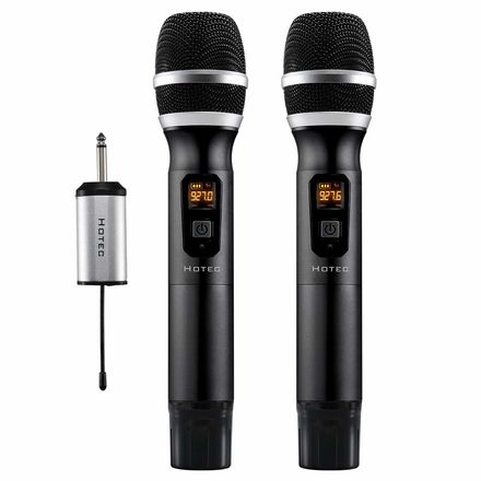 Hotec 25 Channel UHF Wireless Microphone Dual Microphone wit