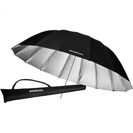 Westcott 7-Foot Silver Parabolic Umbrella with Diffusion