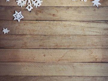 Rent: Rustic Snowflakes Photo Backdrop - PolyPaper / 5' x 6'