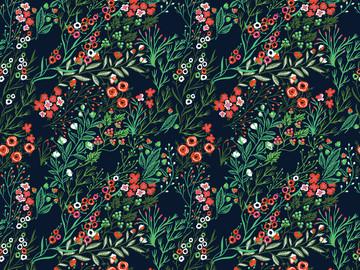 Holiday Garden Photo Backdrop - PolyPaper / 5' x 5'