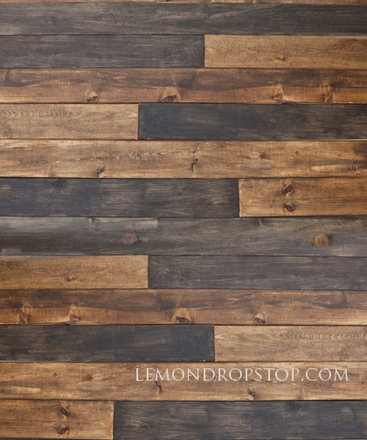 7 Foot PolyLite Two Tone Wood Backdrop