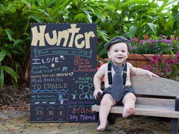 Rent: Child sized Wooden Park Bench Photography Prop